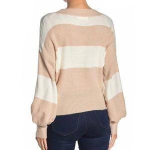 Mustard Seed Sweaters - Mustard Seet Two Tone Striped Sweater